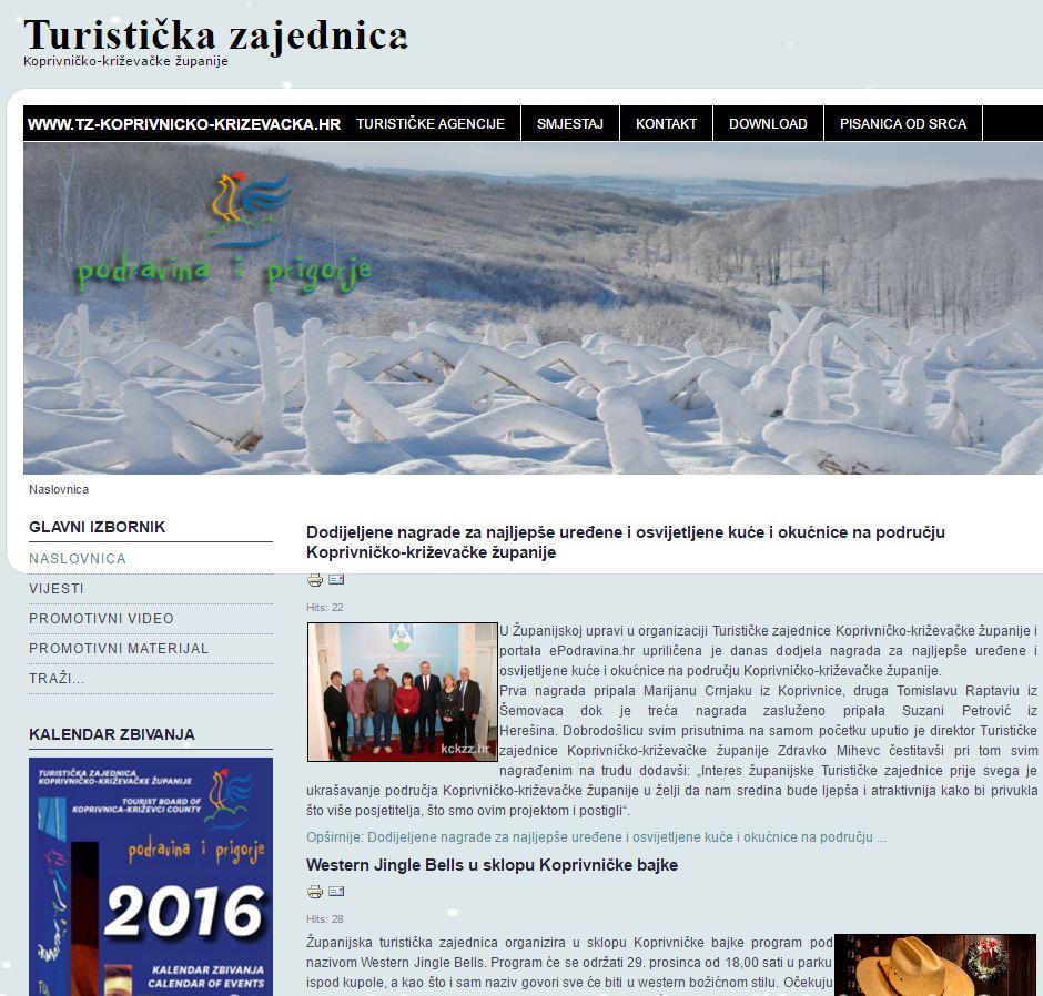 Arhiv web stranice Turisticke zajednice županije