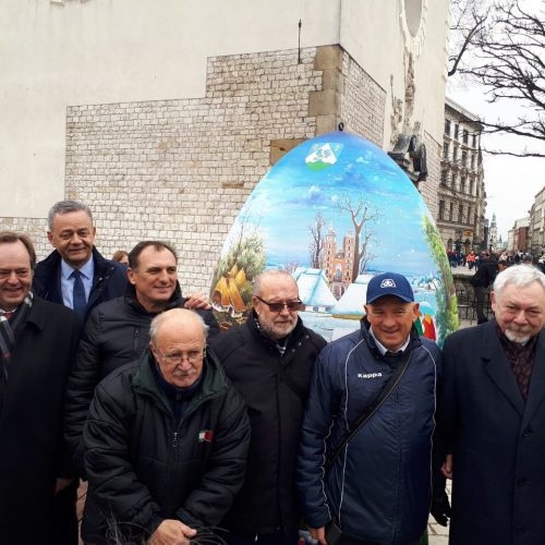 slikari s veleposlanikom, županom i gradonačelnikom Krakowa